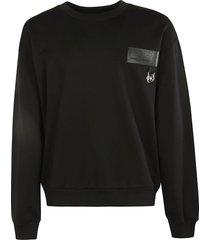dolce & gabbana logo patch ribbed sweatshirt