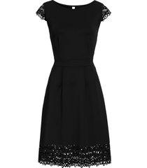 abito con trafori (nero) - bodyflirt boutique