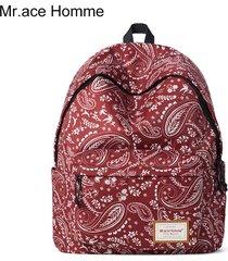bolso casual de la computadora de la mochila del viento-rojo