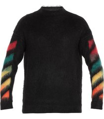off-white diagonal brushed mohair sweater