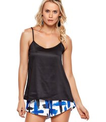 regata modisch blusa slip top satin preto