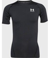primera capa under armour ua hg armour comp ss negro - calce ajustado