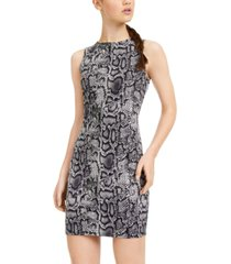 rosie harlow juniors' snake-embossed dress