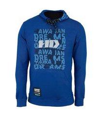 blusa de moletom hd masculina com capuz canguru fec 7066a