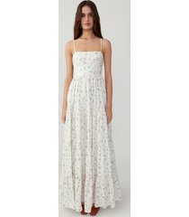 forget me not ivory straight neck tiered gown