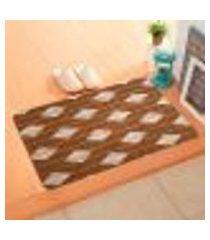 capacho carpet triangulos separados marrom único