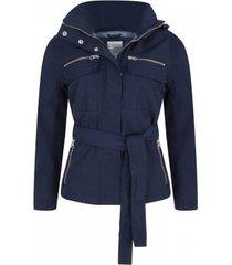 happyrainydays regenjas exclusive twill biker jacket nairobi navy-m
