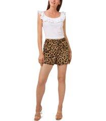 riley & rae vicki leopard-print cargo shorts, created for macy's