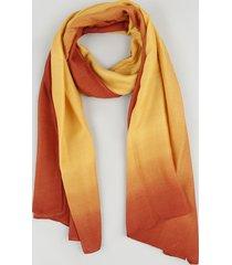 lenço feminino plissado com degradê amarelo