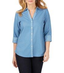 women's foxcroft mary geo print shirt