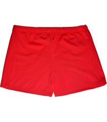 bikini short de lycra rojo samia