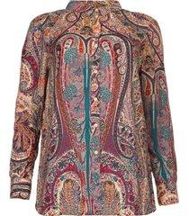 blouse met paisleyprint blake  roze