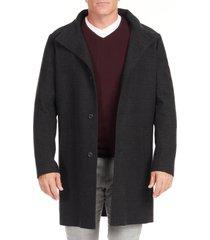 men's big & tall johnny bigg chelsea plaid coat, size xx-large - black