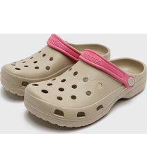 sandalia   air tan rosado bamers
