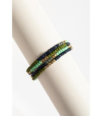 kelly beaded bracelet - olive