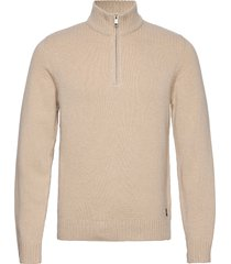 pullover long sleeve knitwear half zip jumpers beige marc o'polo