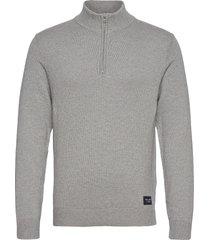 anf mens sweaters knitwear half zip jumpers grå abercrombie & fitch