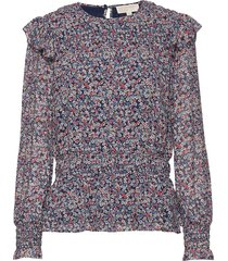dainty bloom smck top blouse lange mouwen multi/patroon michael kors