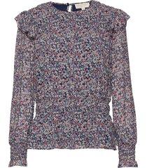 dainty bloom smck top blouse lange mouwen multi/patroon michael kors