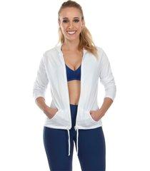 casaco dry fit cajafit branco - branco - feminino - dafiti