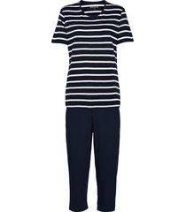 pyjamas 3/4 pyjamas blå schiesser