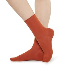 calzedonia - short cotton socks with comfort cut cuffs, 39-41, brown, women