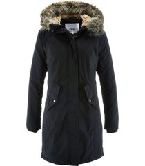 parka con rifiniture in ecopelliccia (nero) - bpc bonprix collection