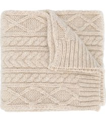 maison margiela chunky knit scarf - neutrals