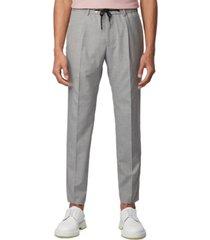 boss men's bardon melange slim-fit trousers