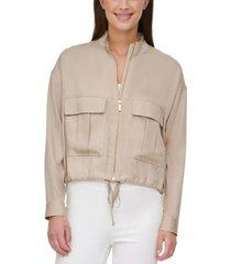 calvin klein zip-front cargo jacket