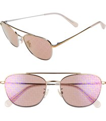 women's coach 55mm aviator sunglasses -
