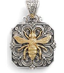 konstantino 'penelope' bee locket pendant in silver/gold at nordstrom
