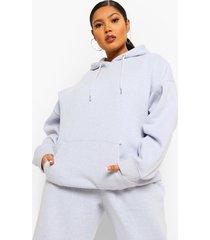 plus oversized overdye hoodie, light blue