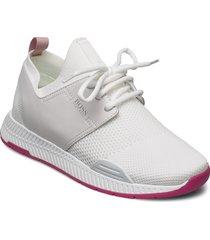 titanium_runn_knit låga sneakers vit boss
