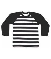 camiseta fit & fly raglan listrada