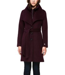soia & kyo belted single breasted coat, created for macy's