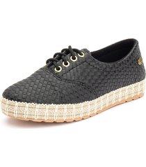 tãªnis sapatãªnis casual  ousy shoes   fã¡cil calce preto - preto - feminino - couro sintã©tico - dafiti