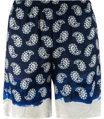 msgm paisley print shorts