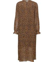 hitta print dress dresses everyday dresses brun modström