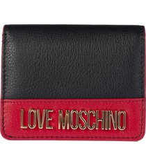 love moschino logo french wallet