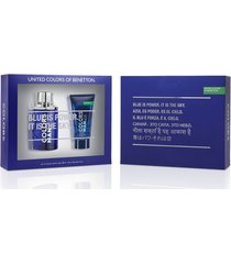 kit perfume benetton colors men blue eau de toilette + pós-barba