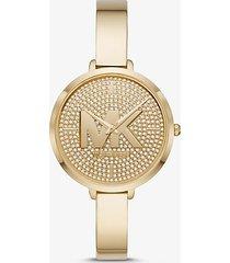 mk orologio charley tonalità oro con pavé - oro (oro) - michael kors