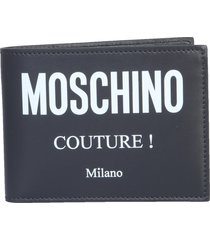 moschino bifold wallet with logo