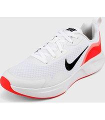 tenis lifestyle blanco-coral nike wearallday