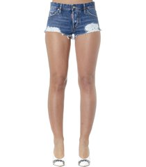 dsquared2 denim wornt effect shorts