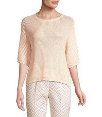 crochet cotton sweater