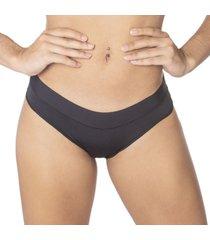 calcinha modelo tanga cã³s com tecido duplo nayane rodrigues - preto - feminino - dafiti