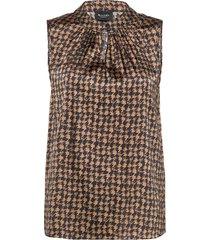 3174 satin - prosi top blouse mouwloos bruin sand