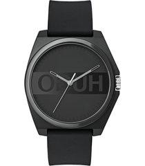 men's hugo play rubber strap watch, 40mm