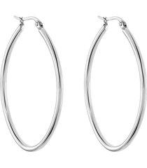 orecchini a cerchio lady code acciaio ovale per donna